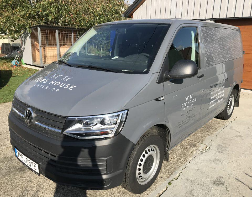Samolepícíreklama.cz - truhlářství Idee House, polep dodávky VW Transporter
